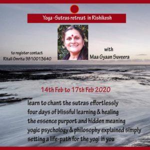 Yoga Sutras Retreat in Rishikesh