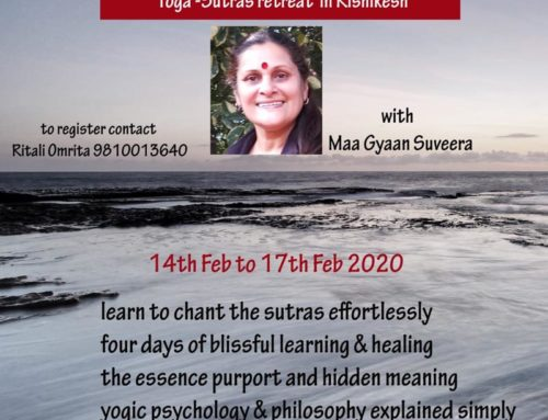 Yoga Sutras Retreat in Rishikesh February2020